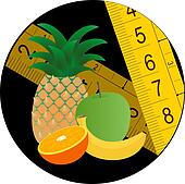 Circle fruit diet icon