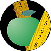 Green apple diet icon