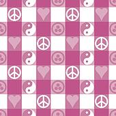 Peace Plaid in Pink