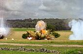 Explosion From Cannon Shell