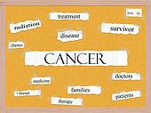 Cancer Corkboard Word Concept