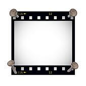 blank film strip frame