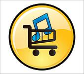 Buy Music Button shopping trolley