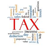 Tax Word Cloud Concept