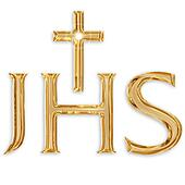 jesus christ monogram isolated on white background