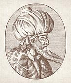 Enraved portrait of Sultan Orhan Ga