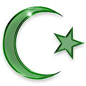 green star and crescent emblem of islam