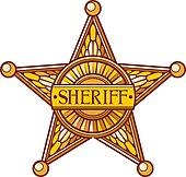 Vector sheriff's star
