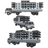 Moving A House Buildings With Truck