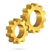 Golden gearwheel