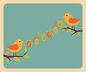 Easter Greeting Card Design