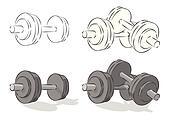 Vector simple dumbbells