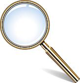 golden magnifying glass