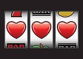 Triple hearts slots machine