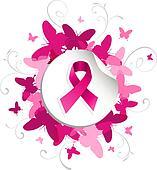 Breast Cancer Ribbon Clip Art - Royalty Free - GoGraph