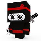 Ninja paper toy