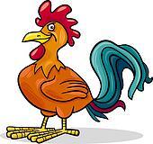 rooster farm animal cartoon illustration