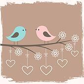 Couple of cute birds