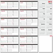 Vector annual planner for 2013