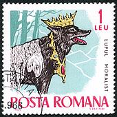 ROMANIA - 1965: shows The Moralist Wolf, series Fairy Tales