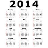An Illustration of a Simple Calendar - 2014