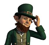 Leprechaun About to Tip His Hat