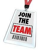 Join the Team - Lanyard and Badge