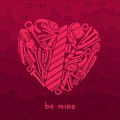Valentine card for manly men