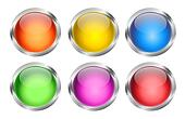 Glowing Round Web Buttons