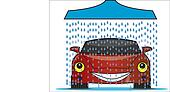 Illustration of car wash