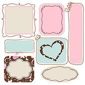 Blank cute frames for text