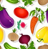 Seamless pattern bright vegetables