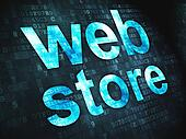 Web design SEO concept: Web Store on digital background