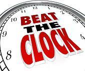 Beat the Clock Words Deadline Countdown