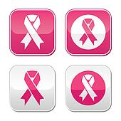 Ribbon symbols for breast cancer