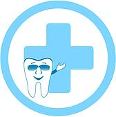 tooth with dental clinic sign