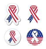USA ribbon flag - patriotism