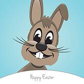 brown happy easter bunny