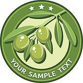 Green olives, vector illustration