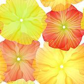 Seamless Primula Flowers Pattern