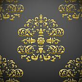 Seamless royal floral pattern