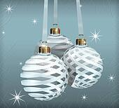 Transparent Christmas Balls Background