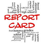 Report Card word art graphic