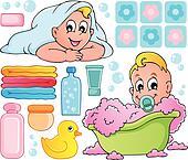 Baby bath theme collection 1