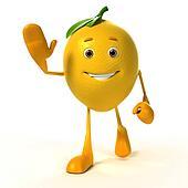 Food character - lemon