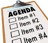Agenda on Clipboard Plan for Meeting or Project