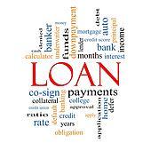 Loan Word Cloud Concept