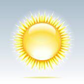 Shiny sun in the sky