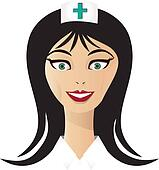 Pretty nurse face vector