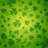 striped shamrocks in green old paper background
